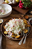 New potatoe salad with fennel radish