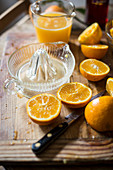 Oranges and citrus squeezer