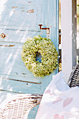 Türkranz aus Hortensienblüten