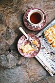 Teatime mit Mandelkuchen