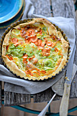 Carrot quiche with leek