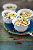 Brussels sprouts bake with dried goji berries