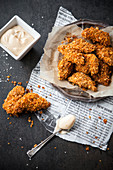 Chicken Nuggets mit Chili-Mayonnaise
