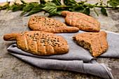 Nettle wholemeal bread