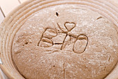 Organic bread with a stamp