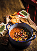 Smoked pork and bean soup