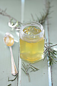 Rosemary jelly in glasses