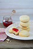 Scones with strawberry jam