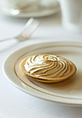 Meringue tart on a plate