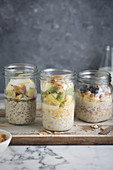 Over night oats in mason jars