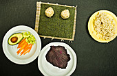 Ingredients for vegan nori maki