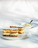 Millefeuilles with vanilla cream