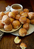 Cinnamon Donuts With Turbinado Sugar