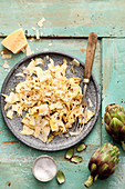 Artichoke salad with fresh pecorino
