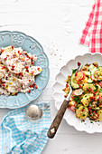 Potato salads from the north and south