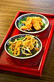 Vvegetable tempura, gluten-free