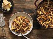 Rigatoni With White and Italian Pork Sausage Bolognese