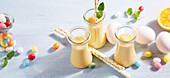 Orange eggnog for Easter