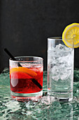 Gin and Tonic and Negroni cocktails