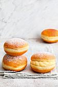 Stuffed vanilla donuts