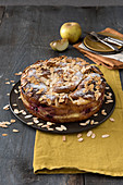 Apple croissant bake with blackberries and almonds