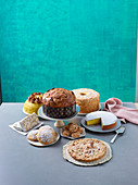 Cake and pastries from Lombardy, Italy