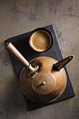 Coffee in retro coffee pot