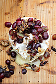 Grilled Camembert with grapes and nuts