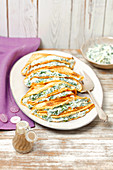 Pancakes with spinach and quark