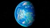 Cretaceous Earth, illustration