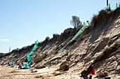 Eroding sand dunes, UK