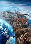 Evolution of life on Earth, illustration