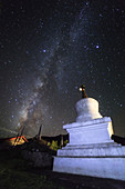 Milky Way and Buddhist tower