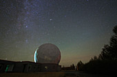 Milky Way over radio telescope at Qinhai, China