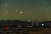 Big Dipper over radio telescope at Qinhai, China