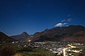 Moonlit landscape at Shigu, Yunnan, China