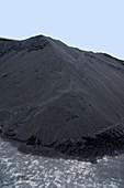 Dockside coal heap
