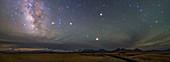Milky Way and stars over Tibet