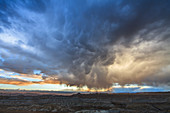 Mammatus clouds over Tibet