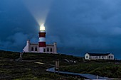 Agulhas lighthouse during a winter storm