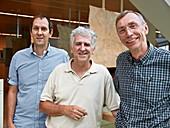 Meyer, Arsuaga and Paabo, human evolution researchers