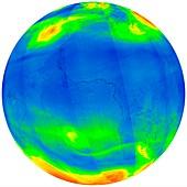 Ozone distribution, 2017 satellite map