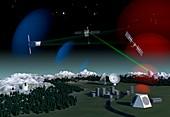 Space debris surveillance system, artwork