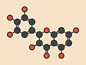 Ampelopsin flavanonol drug molecule
