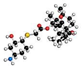 Lefamulin antibiotic drug molecule