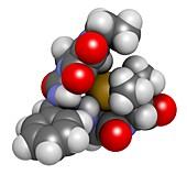Piperacillin antibiotic drug molecule