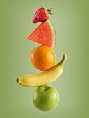 Stack of fresh fruit