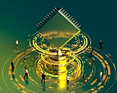 Computing trophy, conceptual illustration