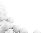 Group of golf balls, illustration
