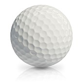 Golf ball, illustration